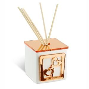 Profumatore piccolo in ceramica con base in plexiglass rame