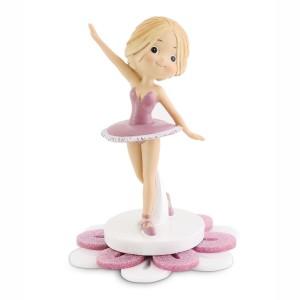 Ballerina grande con base fiore in plex glitter