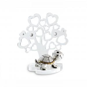 Albero piccolo in plex con tartaruga argento