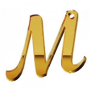 """PEND-LETTERA """"M"""" CM 4H PLEX SPECCH-ORO (SFUSO IMBUST.)"""