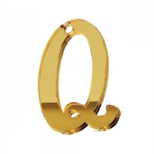 """PEND-LETTERA """"Q"""" CM 4H PLEX SPECCH-ORO (SFUSO IMBUST.)"""
