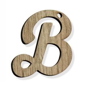 """PEND-LETTERA """"B"""" CM 4H LEGNO (SFUSO IMBUST.)"""