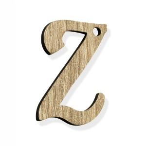 """PEND-LETTERA """"Z"""" CM 4H LEGNO (SFUSO IMBUST.)"""