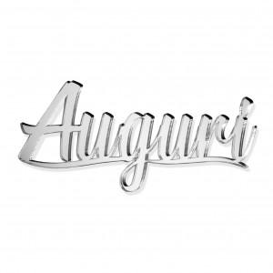 """SCRITTA """"AUGURI""""CM 15 PLEX SPECCH-ARG (SFUSO IMBUST)"""