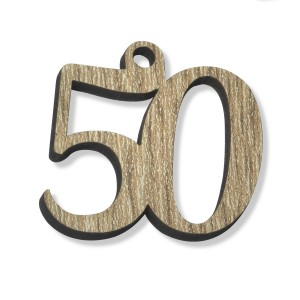 PEND/NUMERO 50 LEGNO  CM 3H(SFUSO IMBUST)