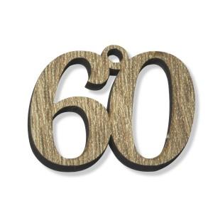 PEND/NUMERO 60 LEGNO  CM 3H(SFUSO IMBUST)