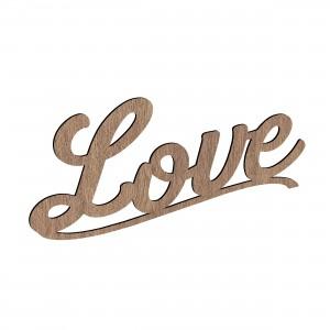 Scritta LOVE in legno, cm 40