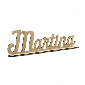 SCRITTA/CON BASE*MARTINA*CM40,LEGNO