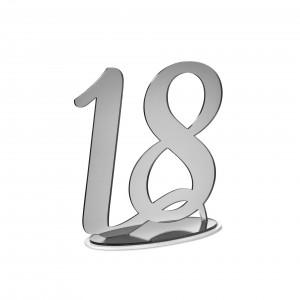 NUMERO 18 CON BASE CM H20, PLEXI SPECCH/ARG