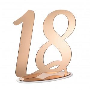 NUMERO 18 CON BASE CM H30, PLEXI SPECCH/RAME