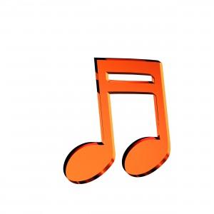 Applicazione Nota Musicale in plex specchio rame, cm 4x5