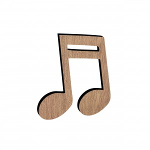 Applicazione Nota Musicale in legno, cm 4x5