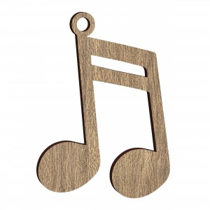 Pendente Nota Musicale in legno, cm 4x5