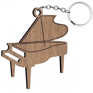 Portachiavi Pianoforte in legno, cm 5x5