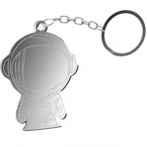 Portachiavi Astronauta in plex specchio argento, cm 4,5x5