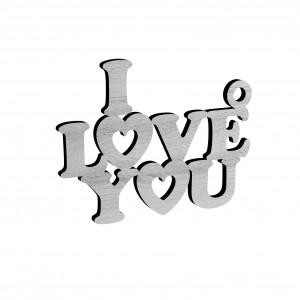 "PENDENTE ""I LOVE YOU"" IN LEGNO AVORIO"