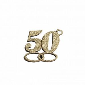 PENDENTE 50° LEGNO GLITTER  ORO