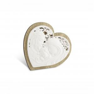 Icona piccola a forma di cuore Sacra Famiglia