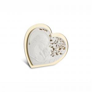 Icona piccola a forma di cuore in resina e plex oro Maternità