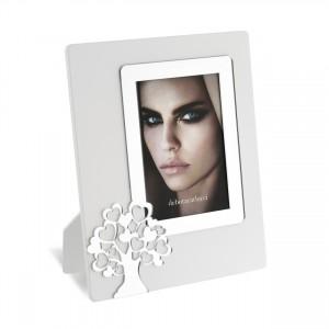 Portafoto in legno con albero della vita in plex argento
