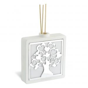 Diffusore per ambiente in resina con albero della vita in plex argento