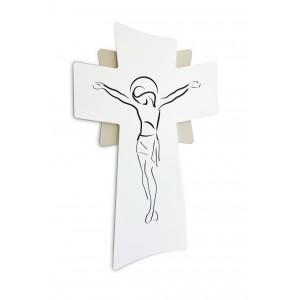 Crocifisso piccolo inciso in legno