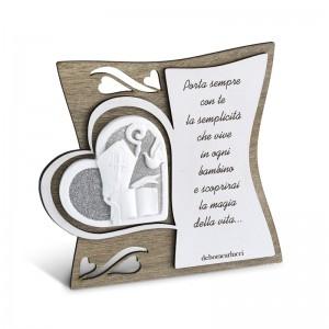 Icona in legno con poesia Cresima