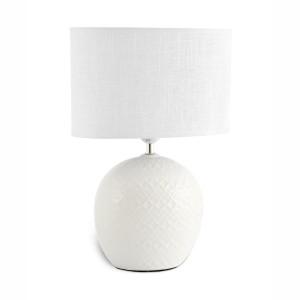 Lampada grande in porcellana bianca