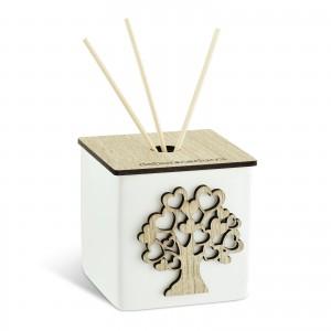 Profumatore piccolo a forma di cubo con albero della vita