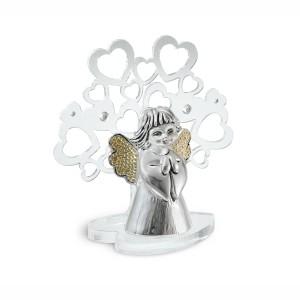 Albero piccolo in plex con angelo argento