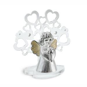 Albero medio in plex con angelo argento