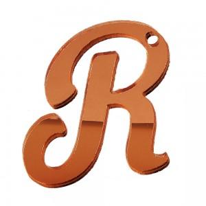 """PEND-LETTERA """"R"""" CM 4H PLEX SPECCH-RAME (SFUSO IMBUST.)"""