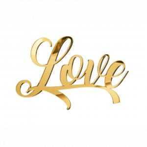 """SCRITTA""""LOVE""""CM15 PLEX SPECCH-ORO (SFUSO IMBUST)"""
