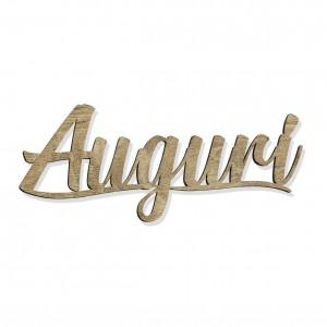 """SCRITTA """"AUGURI"""" CM 15 LEGNO (SFUSO IMBUST.)"""