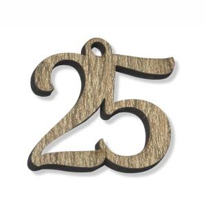 PEND/NUMERO 25 LEGNO  CM 3H(SFUSO IMBUST)