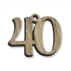 PEND/NUMERO 40 LEGNO  CM 3H(SFUSO IMBUST)