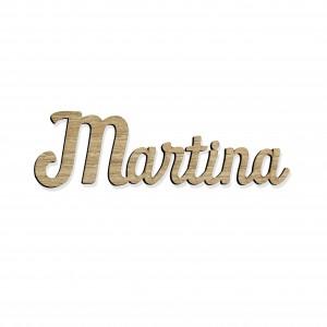 SCRITTA/SEGNAPOSTO*MARTINA*CM15, LEGNO
