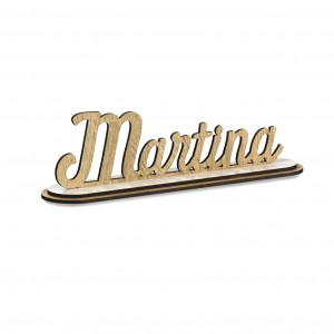 SCRITTA/CON BASE*MARTINA*CM20, LEGNO