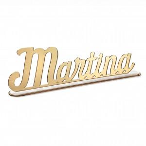SCRITTA/CON BASE*MARTINA*CM40,PLEXI SPECCH/ORO