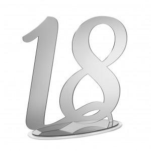 NUMERO 18 CON BASE CM H30, PLEXI SPECCH/ARG