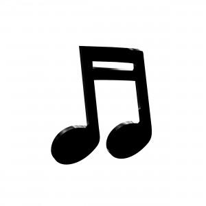 Applicazione Nota Musicale in plex nero, cm 4x5