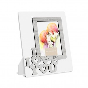 PTF 13X18''I LOVE YOU''LEGNO AVORIO CM 26X31H