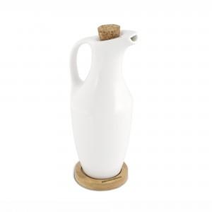 Oliera in ceramica con base in Bamboo