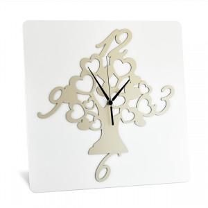 Orologio da tavolo in legno con albero della vita