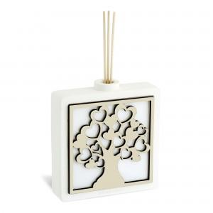Diffusore per ambiente in resina con albero della vita in legno
