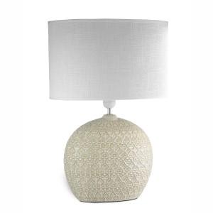 Lampada grande in porcellana tortora