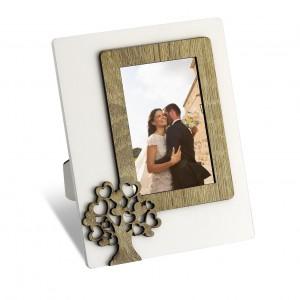 Portafoto con albero della vita in legno