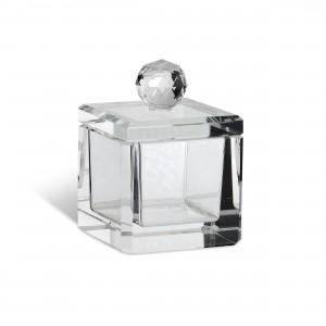 Portagioie quadrato in cristallo