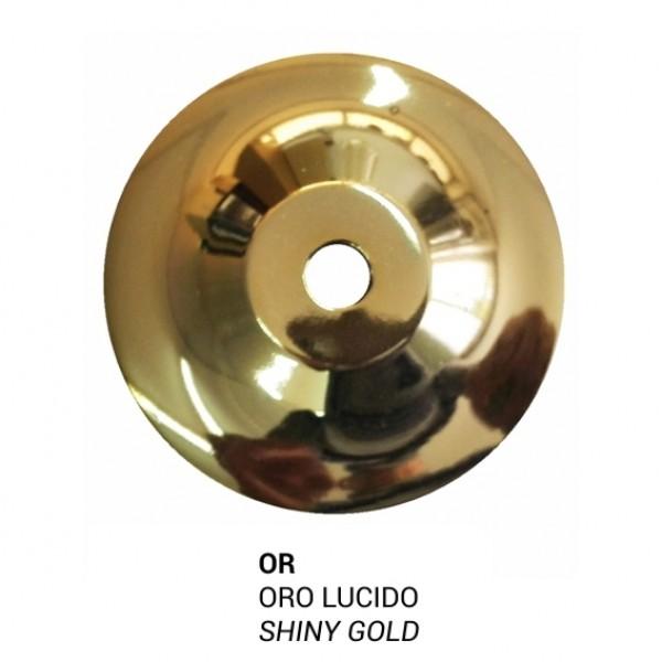 Lampada Grande In Metallo Finitura Oro E Vetro Soffiato Rosso Colore Oro Deboracarlucci
